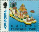 Briefmarken - Jersey - Faces in Jersey