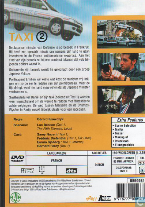 taxi 2 dvd catawiki. Black Bedroom Furniture Sets. Home Design Ideas