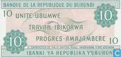 Banknoten  - Banque de la République du Burundi / Ibanki ya Republika y'Uburundi - Burundi 10 Franken
