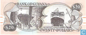 "Banknotes - Guyana - 1996-2016 ND ""Ascending Size Serial#"" Issue - Guyana 20 Dollars ND (1996)"
