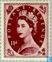 Postage Stamps - Great Britain [GBR] - Queen Elizabeth II (Wilding)