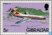 Postzegels - Gibraltar - vliegtuigen