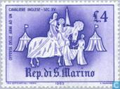 Postage Stamps - San Marino - Medieval Tournaments