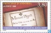 Timbres-poste - Andorre - Poste française - Manuel Digest 250 années