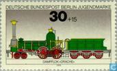 Timbres-poste - Berlin - Locomotives