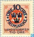Postage Stamps - Sweden [SWE] - 10 + TIO # 20 red
