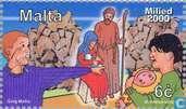 Postage Stamps - Malta - Christmas Scenes