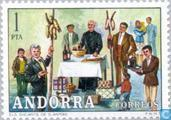 Postage Stamps - Andorra - Spanish - Folklore