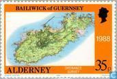 Briefmarken - Alderney - Maps