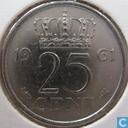 Monnaies - Pays-Bas - Pays-Bas 25 cents 1961