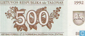 Lituanie 500 talonas