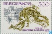 Postage Stamps - France [FRA] - World Championship Wrestling