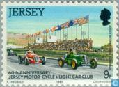 Timbres-poste - Jersey - Motorsport Club 60 années
