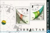 Postage Stamps - Gibraltar - Finish 'Whitbread' sailing event