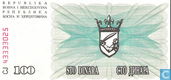 Bankbiljetten - Narodna Banka Bosne i Hercegovina - Bosnië Herzegovina 100 Dinara