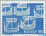 Briefmarken - Norwegen - 90 blau