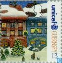 Postage Stamps - Guernsey - UNICEF 1945-1995