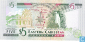Billets de banque - Eastern Caribbean Central Bank - Caraïbes orientales 5 Dollars