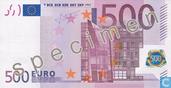 Zone Euro 500 Euro (Specimen)
