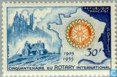 Postage Stamps - France [FRA] - 50 years of Rotary International