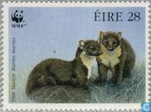 Briefmarken - Irland - WWF-Baummarder
