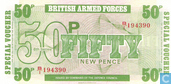 Banknoten  - British Armed Forces  6th Series - BAF 50 neue Pence