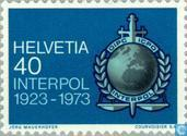 Postage Stamps - Switzerland [CHE] - Interpol 50 years