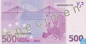Billets de banque - Zone Euro - 2002 Dated 'Signature J.C. Trichet' Issue - Zone Euro 500 Euro (Specimen)