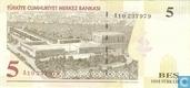 Banknotes - Turkey - 8th Emission - Turkey 5 New Lira 2005 (L1970)