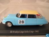 Modelauto's  - Norev - Citroen ID 19 Rallye ''Luik-Sofia-Luik'' 1962