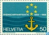 Postage Stamps - Switzerland [CHE] - Shipping Rhine 100 years