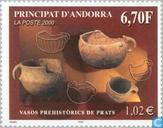Postage Stamps - Andorra - French - Prehistorsche finds