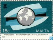 Postage Stamps - Malta - North-South Solidarity