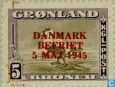 Postage Stamps - Greenland - 500 brown / violet