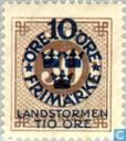 Postage Stamps - Sweden [SWE] - 10 + TIO # 30 Brown