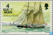 Postage Stamps - Man - Ships