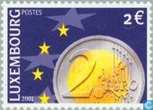 Timbres-poste - Luxembourg - Introduction Euro