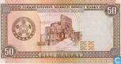 Billets de banque - Türkmenistanyn Merkezi Döwlet Banky - Manat du Turkménistan 50