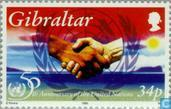Postage Stamps - Gibraltar - UNO 1945-1995