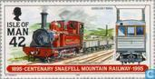 Timbres-poste - Man - tramway de Snaefell 100 ans