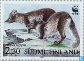 Postage Stamps - Finland - WWF-Arctic Fox