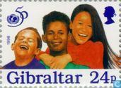 Timbres-poste - Gibraltar - 50 ans de l'UNICEF