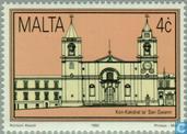 Postzegels - Malta - Historische gebouwen in Valetta