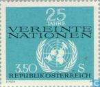 Postage Stamps - Austria [AUT] - 25 years of UNO