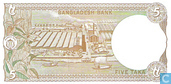 Billets de banque - Bangladesh - 1982-2006 'Clear Watermark Area' Issue - Bangladesh 5 Taka ND (1993)