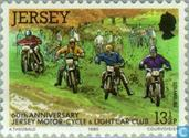 Briefmarken - Jersey - Motorsport Club 60 Jahre