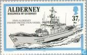 Postage Stamps - Alderney - Warships