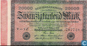Banknotes - Reichsbanknote - Germany 20,000 Mark