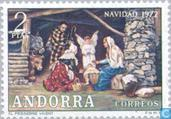 Postage Stamps - Andorra - Spanish - Christmas Nativity
