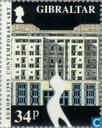 Postzegels - Gibraltar - Europa – Hedendaagse kunst